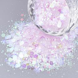 Accessoires d'ornement, paillette / paillettes en plastique pvc, pas de trou / perles non percées, formes mixtes, 1~5x1~5x0.1 mm(PVC-S035-013A)