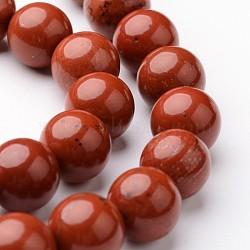 """Brins ronds de perles de jaspe rouge naturel, 10mm, trou: 1mm; environ 38~39 pcs/chapelet, 15""""(G-J346-21-10mm)"""