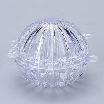 Plastic Candle Molds, for Candle Making Tools, Cactus Shape, Clear, 104.5x104x68mm, Hole: 33mm, Inner Diameter: 74mm(DIY-I035-08)