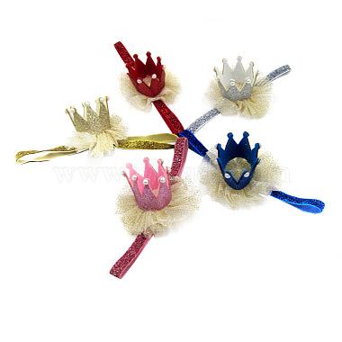 Elastic Glitter Powder Child Headbands for Girls(OHAR-R277-01)-1