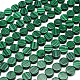 Flat Round Synthetic Malachite Beads Strands(G-R305-08)-1