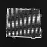 Clear Square Plastic Pegboard(X-DIY-Q009-08)