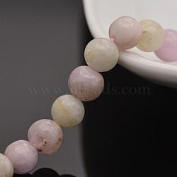 """Brins de perles rondes en kunzite / spodumène naturel, 6mm, trou: 1mm; environ 31 pcs/chapelet, 7.4""""(G-P088-67-6mm)"""