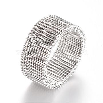 304 Stainless Steel Finger Ring Settings, Stainless Steel Color, 16mm(MAK-R010-16mm)