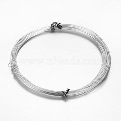 Fil d'aluminium, argenterie, environ 1.5 mm, environ 10 m / bibone (X-AW-D009-1.5mm-10m-01)