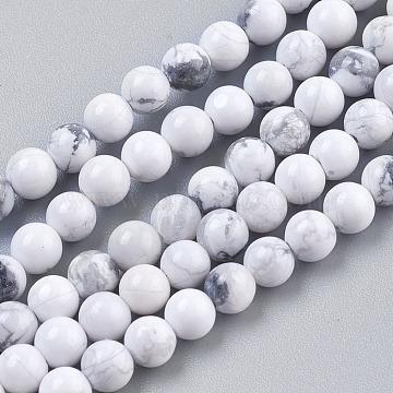 4mm White Round Howlite Beads