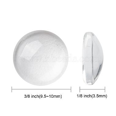 Transparent Glass Cabochons(X-GGLA-R026-10mm)-2