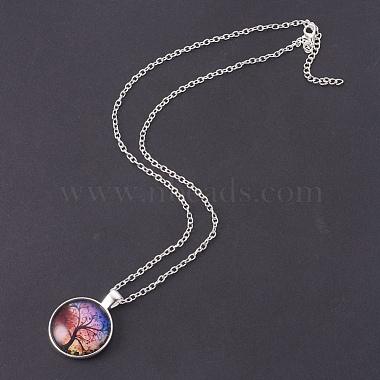 Glass Pendant Necklaces(NJEW-MSMC002-07S)-2