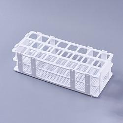 Présentoirs en plastique pour tubes à essai, blanc, 7.15x25x10.8 cm(ODIS-WH0005-02)