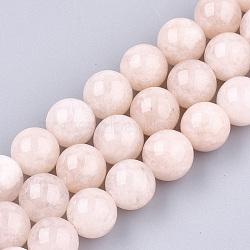 perles naturelles morganite brins, arrondir, 10 mm, trou: 1.2 mm; environ 36~38 perle / brin, 14.1(G-T108-31C)