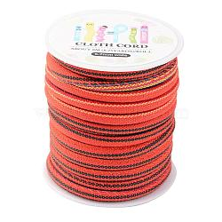 Cordon ethnique cordon en tissu, colorées, 6~7mm; environ 8.75yards / roll (8m / roll)(OCOR-JP0002-02)