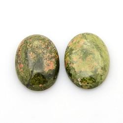 Cabochons de pierre précieuse en unakite naturelle, ovale, 25x18x5~7mm(X-G-P023-08)