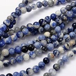 """Chapelet de perles en sodalite naturelle, grade AB, rond, 6mm, trou: 0.8mm; environ 60 pcs/chapelet, 15~16""""(GSR6mmC013)"""