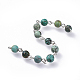 Handmade Natural African Turquoise Beaded Chains(AJEW-JB00504-04)-2