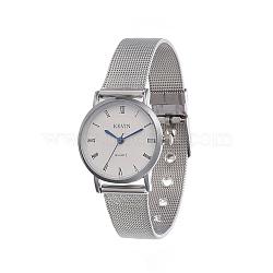 наручные часы высокого качества, кварцевые часы, головка часов из сплава и ремешок из нержавеющей стали, синий, 221x12x1 мм; смотреть голову: 26x29x9 мм(WACH-I017-01B)