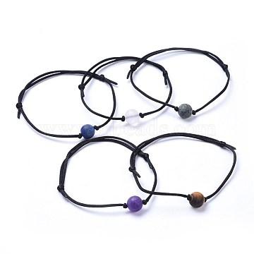 Black Mixed Stone Bracelets