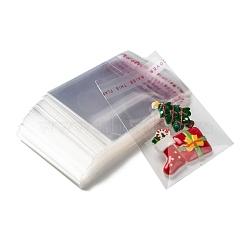 OPP мешки целлофана, небольшие сумки для хранения ювелирных изделий, самоклеящиеся пакеты для запайки, прямоугольные, прозрачные, 7x5см; односторонняя толщина: 0.035 мм; внутренняя мера: 4.5x5 см