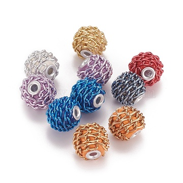 17mm Mixed Color Rondelle Polymer Clay Beads