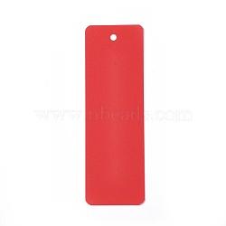 Carte de papier kraft vierge, nacré, carte de signet de bricolage, rectangle, rouge, 142~145x46~47x0.3~0.4mm, Trou: 5mm(DIY-WH0134-D05)