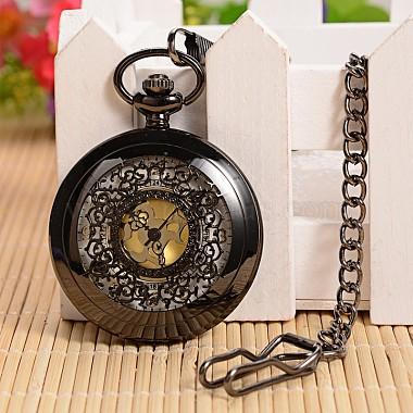 Открываться плоские круглые сплава подвеска карманные часы(X-WACH-L024-27)-2