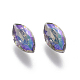 Electroplated Cubic Zirconia Pointed Back Cabochons(ZIRC-I024-5x10-02)-2