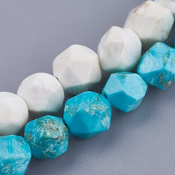 6mm Mixed Color Round Natural Turquoise Beads