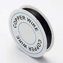 fil de bijoux de cuivre, noir, Jauge 26, 0.4 mm; sur 15 m / rouleau(X-CW0.4mm015)