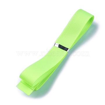 Grosgrain Ribbons, Polyester Ribbons, Green Series, Green Yellow, 5/8 inch(16mm); about 1yard/strand(0.9144m/strand)(SRIB-L055-16mm-D544)
