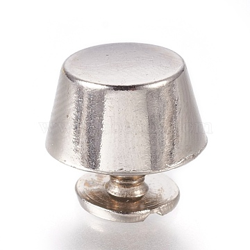 Zinc Alloy Cabinet & Drawer Knobs, Jewelry Box Knobs, Platinum, 7x12mm(PALLOY-WH0026-01P)