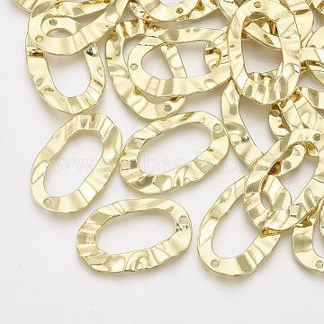 Alloy Pendants, Oval, Light Gold, 35x22.5x2mm, Hole: 1.6mm(X-PALLOY-T067-89LG)
