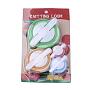 8pcs Knitting Knit Flower Pattern Tassels Loom Craft, Maker Yarn Kit Set, Mixed Color, 52~101x33~81x25~32mm; 4pcs/set