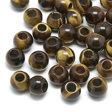 12mm Rondelle Tiger Eye Beads