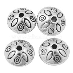 Rondelle покрынный серебром rondelle с шариками прокладки формы цветка, свинца и никеля и кадмия, о 9 mm длиной, 9 mm шириной, 6 mm, отверстия: 1.5 mm