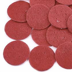 Tampon de parfum en tissu non tissé, plat rond, rouge, 24.5~25x0.6 mm; environ 1000 PCs / sac(DIY-S035-11H-25mm)