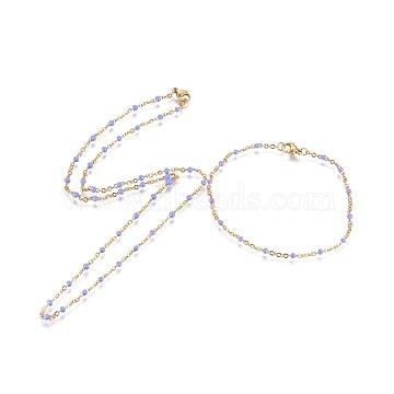 MediumSlateBlue Stainless Steel Bracelets & Necklaces