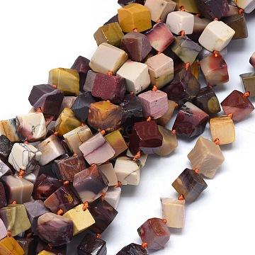 """Chapelets de perles en mookaite naturelles, cube / losange, 12~15x11~13mm, trou: 1.2mm; environ 27~28 pcs/chapelet, 15.3""""~15.9""""(G-O173-074)"""