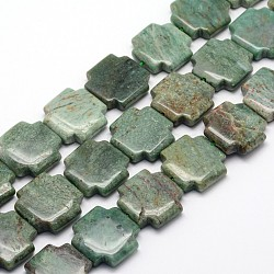"Croix grecque perles de sang de dragon naturelle brins, 20.5x20.5x5.5mm, trou: 1mm; environ 20 pcs/chapelet, 15.74""(G-L320-07)"