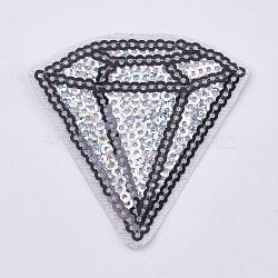 Fer à coudre informatisé/coudre sur des patchs, accessoires de costumes, appliques paillette, diamant, argenterie, 54x53x1mm(DIY-WH0055-20)
