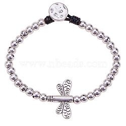 """Bracelets en alliage, Sans cadmium & sans nickel & sans plomb, libellule, argent sterling thaï plaqué, 7-5/8"""" (19.5 cm)(BJEW-Q695-15AS-NR)"""