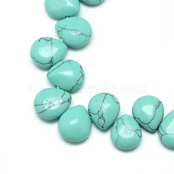 12mm Drop Synthetic Turquoise Beads