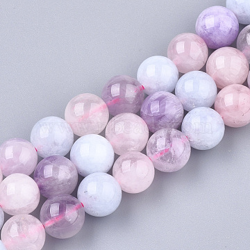 Natural Morganite Beads Strands, Round, Mixed Color, 8mm, Hole: 1mm; about 45~47pcs/strand, 14.1 inches~14.9 inches(G-T108-30B)