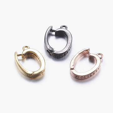 Mixed Color Mixed Color Brass+Cubic Zirconia Clasps