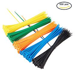 Attaches en plastique, attaches autobloquantes, liens zip, couleur mixte, 20 cm(FIND-PH0008-20cm-02)