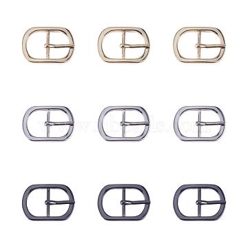 NBEADS Alloy Buckles, Rectangle, Mixed Color, 45~45.5x32.5x6mm, Hole: 17x24.5mm, 15pcs/box(PALLOY-NB0001-38)
