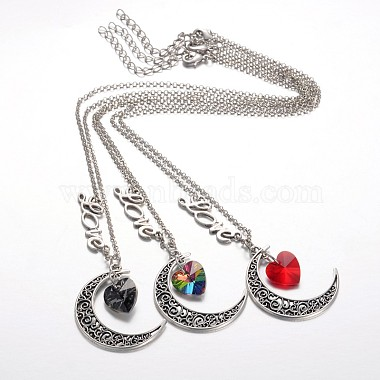 Mixed Color Alloy+Glass Necklaces