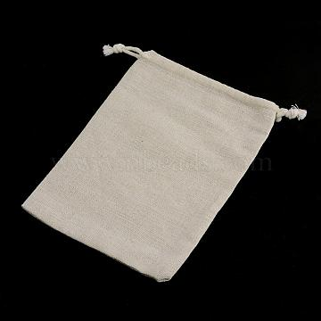Cotton Packing Pouches Drawstring Bags, Gift Sachet Bags, Muslin Bag Reusable Tea Bag, Wheat, 11x9.5cm(ABAG-R011-10x12)