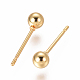 Vacuum Plating 304 Stainless Steel Ball Stud Earrings(EJEW-I232-01B-G)-2