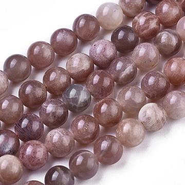 9mm Round Sunstone Beads