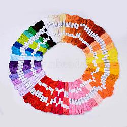Cotton Cord, Embroidery Thread, Mixed Color, 200x160mm(X-OCOR-R013-01-B)
