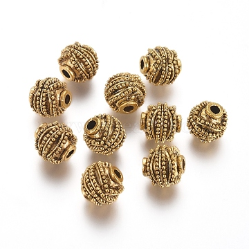 10mm Round Alloy Beads